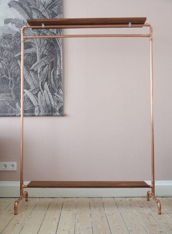 Kupferkleiderstange Kupfer Kupferkleiderständer Kleiderstange | Etsy