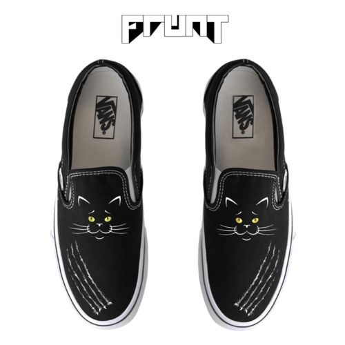 gut aussehend Herbst Schuhe rationelle Konstruktion Limited Edition Black Cat Vans Slip Ons by McNaught ...