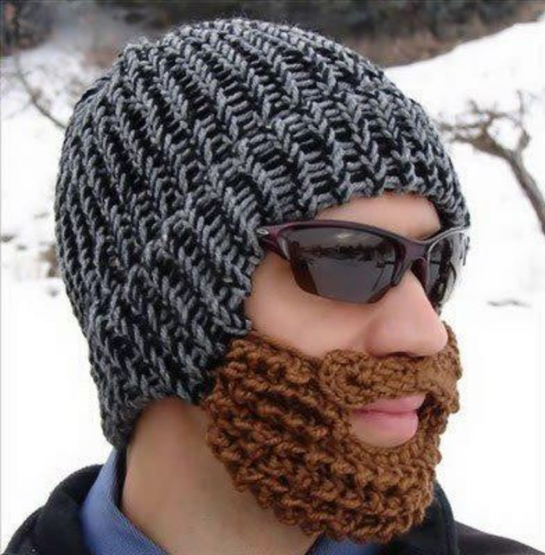gorro con barba | Crochet | Pinterest | Mütze, Schals und Stoffe