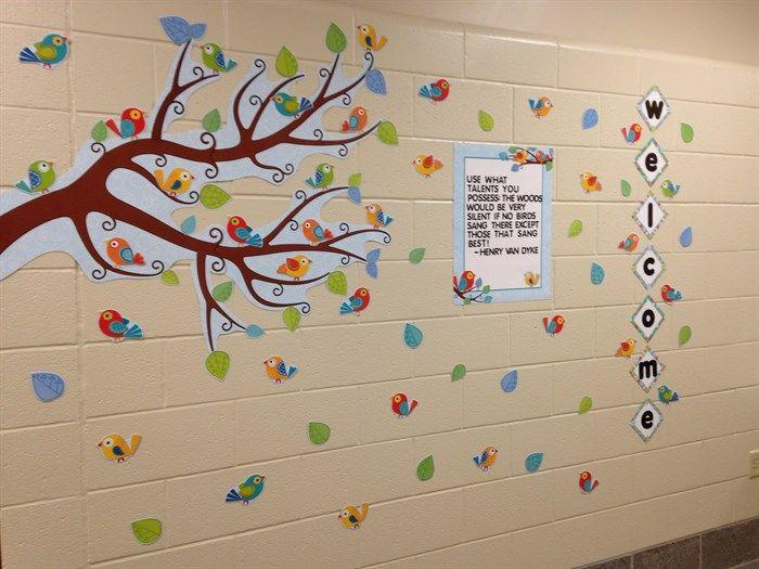Inspirational Theme Ideas: B2S Inspirational Bird Themed Bulletin Board Idea