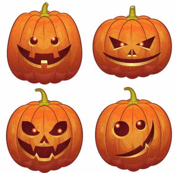 Jack O Lantern Wall Decor (Pack of 8) #pumkincarvingdesigns