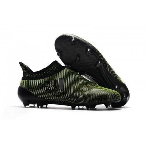 competitive price 60eb7 e7947 Adidas X 17 Purechaos FG Football Boots Green Black