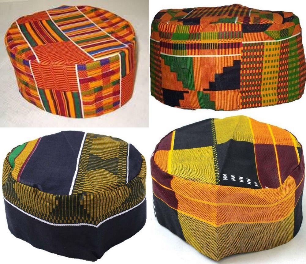 Kente Kufi Hat Handmade With Kente Cloth Wax Print Material Kentespecials African Hats Kente Kente Cloth