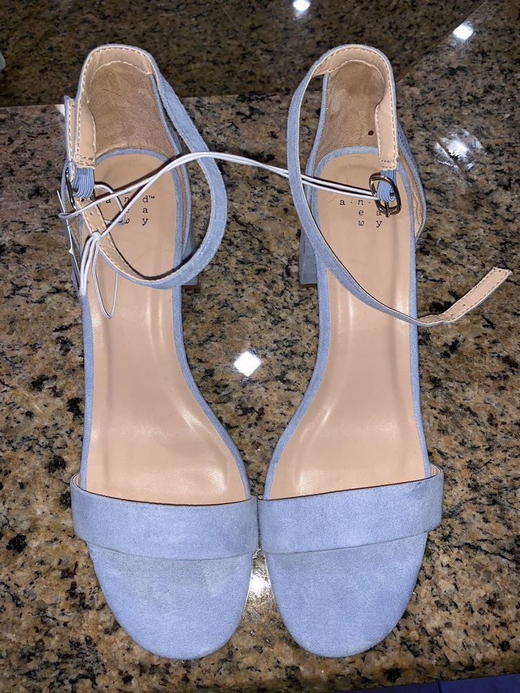 3a9f0a7d9c0a New w  Tags A New Day Michaela Block Heel Pumps Open Toe Light Blue Size 8  OBO  fashion  clothing  shoes  accessories  womensshoes  heels (ebay link)