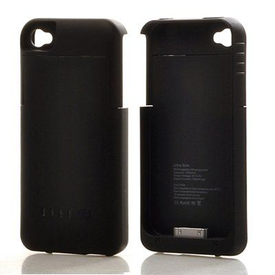 Best rated ATC 1900mAh Rechargeable Battery Case for iPhone 4/4S,AT&T/Verizon - Black