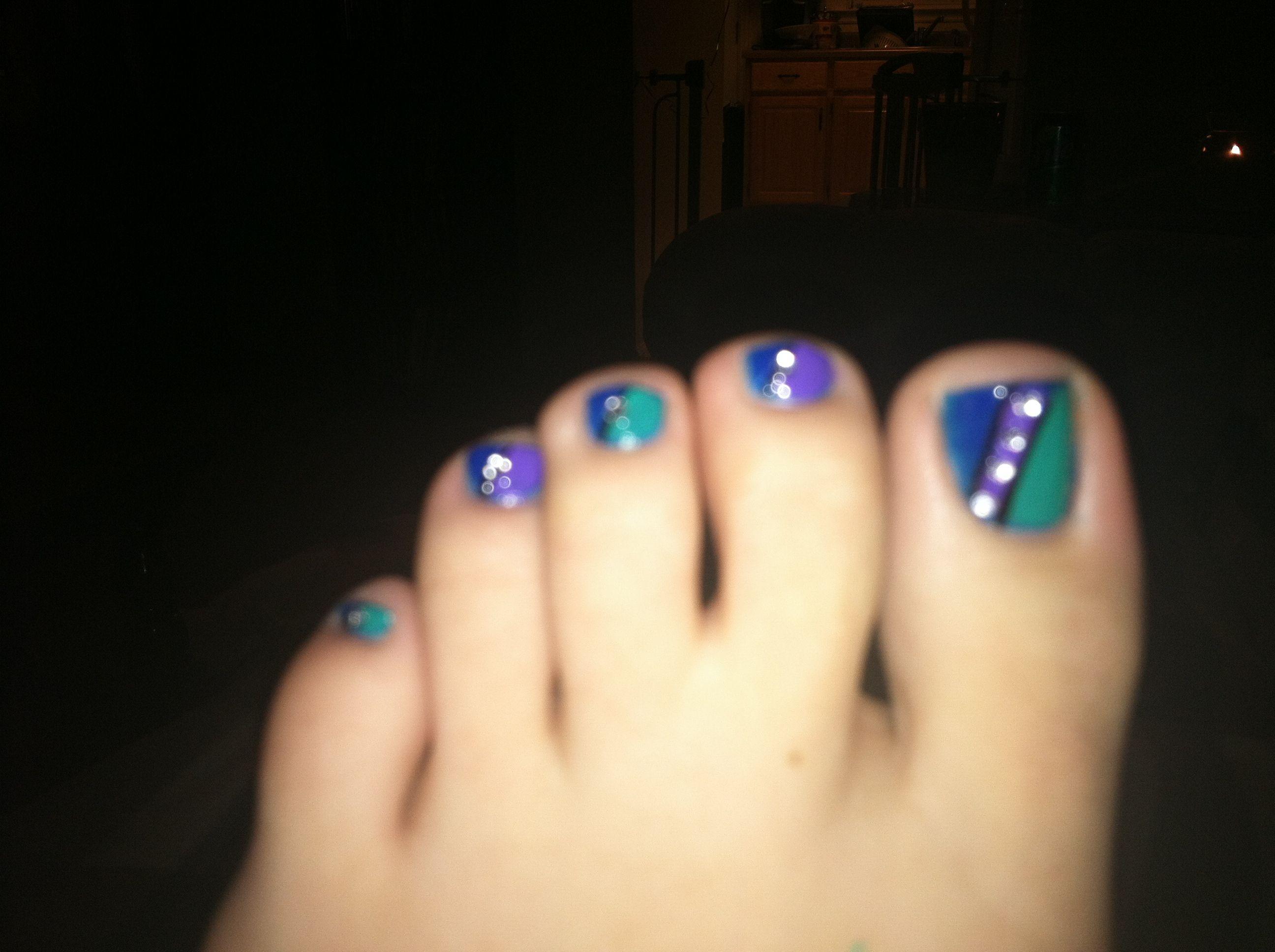 cute toenail design nail