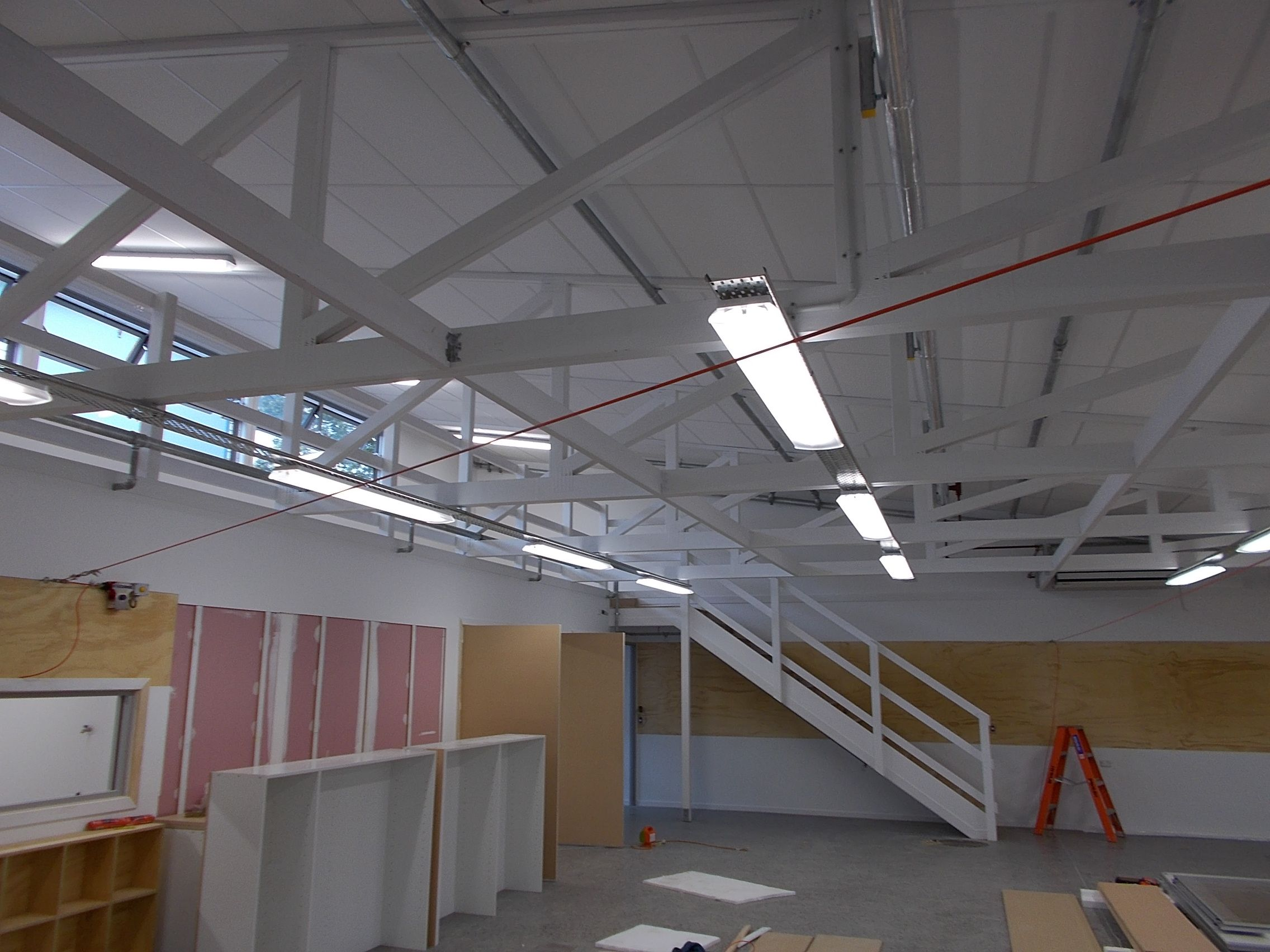 Rayner Consultants: Catching a glimpse of the mezzanine floor at Tauranga Boys College new Technology Block.