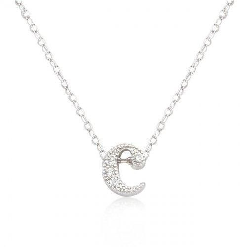Micro-pave Initial C Pendant (pack of 1 ea)