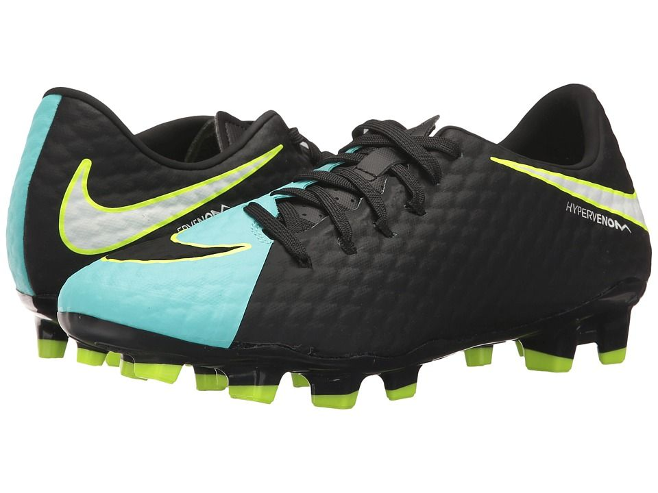 8741b1638 Nike Hypervenom Phelon III FG Women's Soccer Shoes Light  Aqua/White/Black/Volt