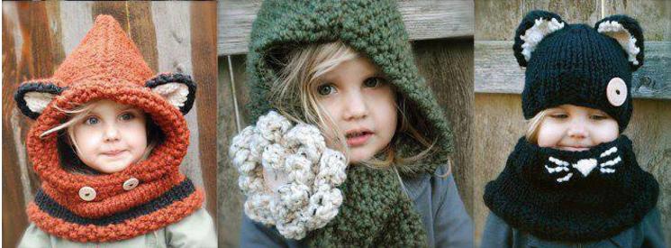 Вязание шапочки для девочек спицами и крючком с описанием ...