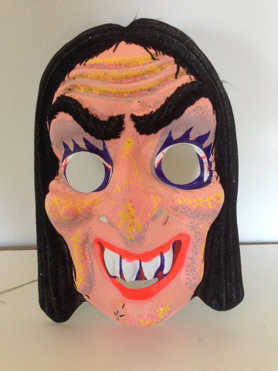 vintage 1970s 80s witch halloween mask on etsy 999