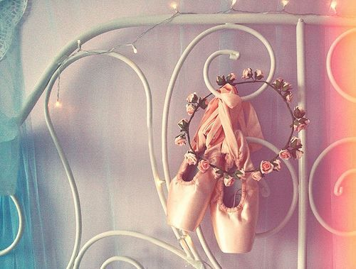 ballet: pointe shoes on headboard