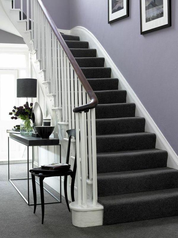 treppen teppich schwarzes design flur pinterest. Black Bedroom Furniture Sets. Home Design Ideas