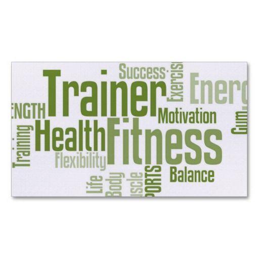 Personal Trainer Business Card Zazzle Com Personal Trainer Business Card Fitness Business Card Personal Trainer Business