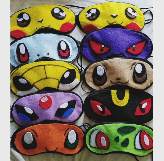 Pokemon Sleep Masks. Costume / Cosplay Masks. Fursona, Anime ...