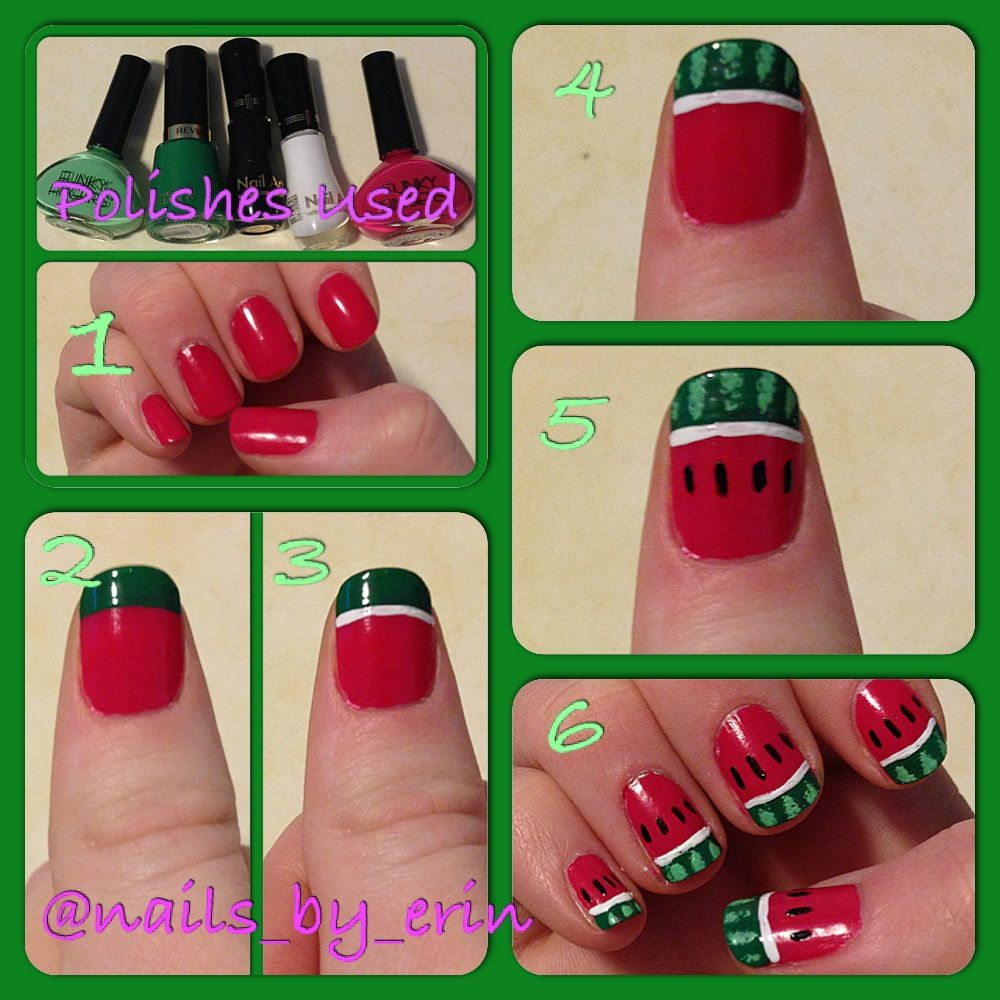 Watermelon Nails Tutorial