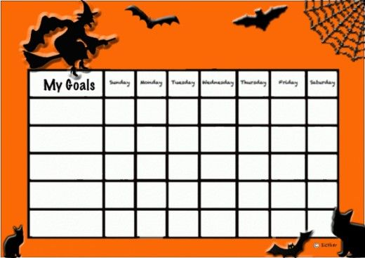 Halloween Behavior Chart  Behavior Charts