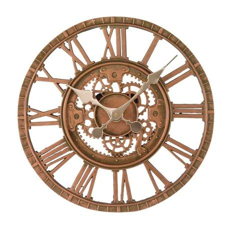 Outdoor Living Clocks Thermometers And Sundials Outside In Newby Bronze Mechanical Wall Clock