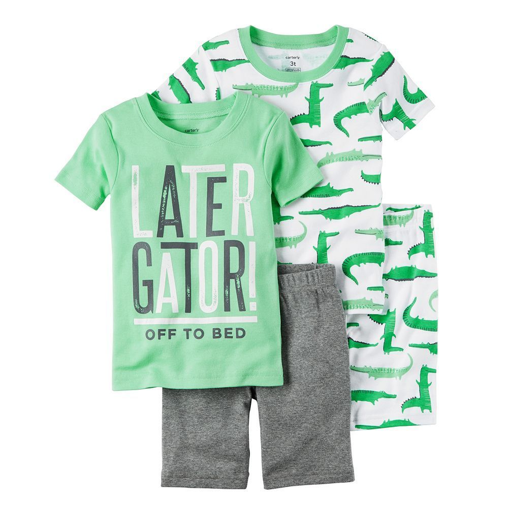 e9ae9c75d Boys 4-8 Carter s Alligator 4-Piece Pajama Set