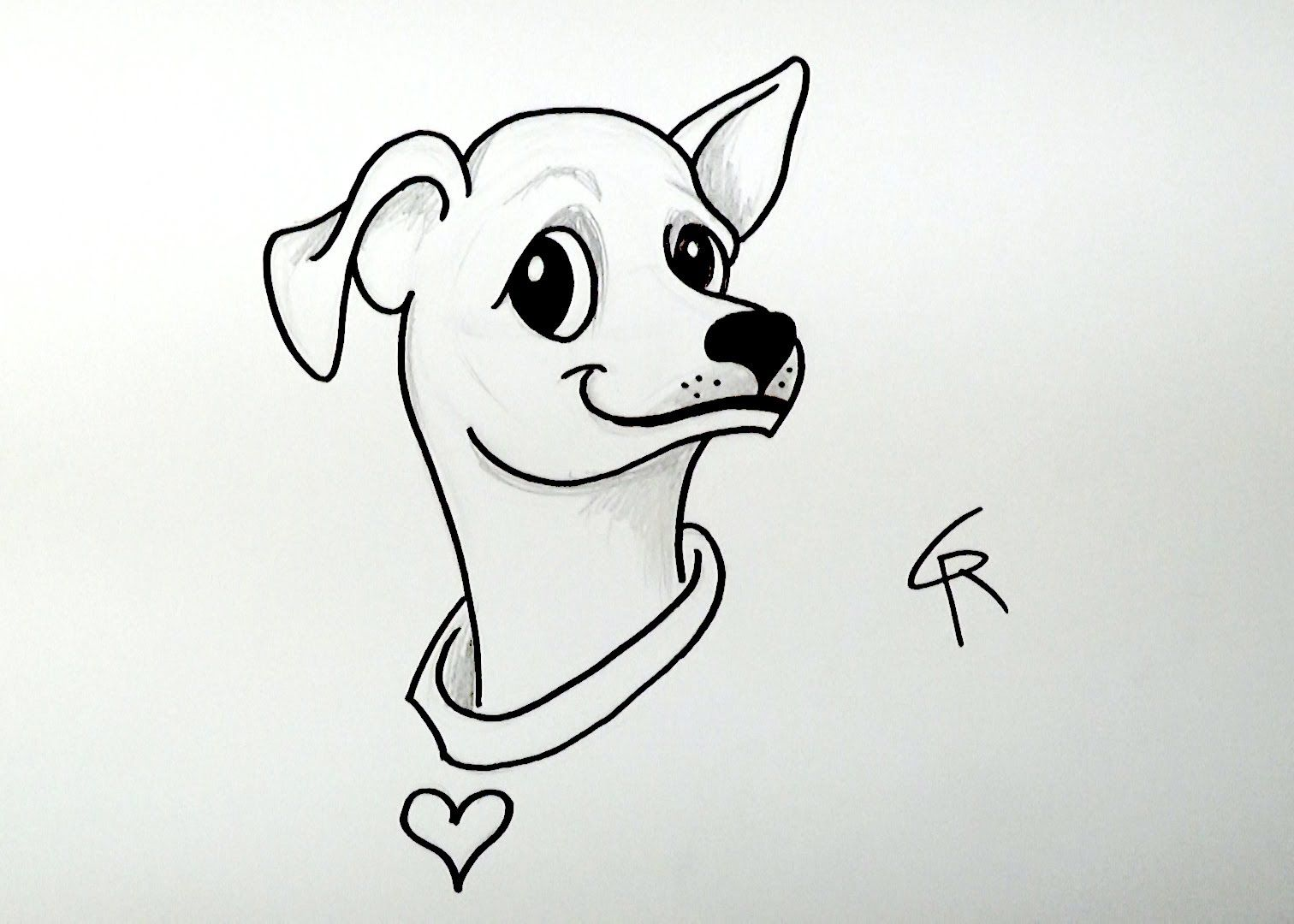 Learn How To Draw A Cute Cartoon Chihuahua iCanHazDraw