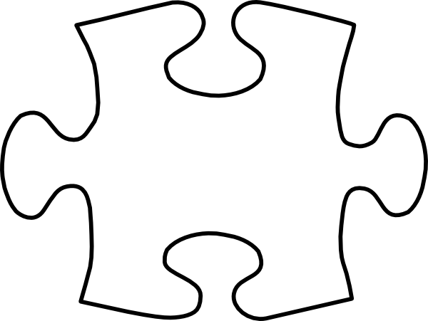 image relating to Printable Puzzles Pieces known as Printable Massive Puzzle Areas White Puzzle Piece Higher Clip
