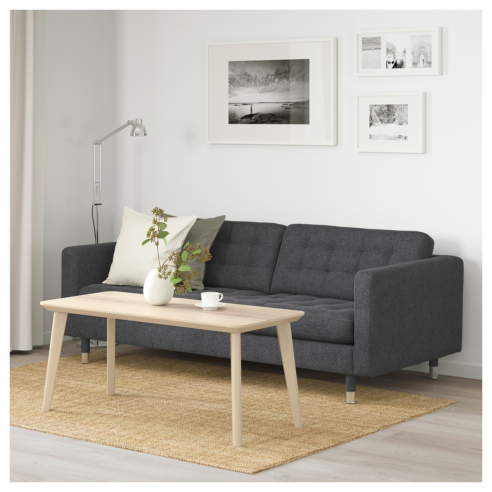 Klassische Sofas You Can Assemble Ikea Landskrona Sofa Gunnared Dark Gray Metal 1 Living Room