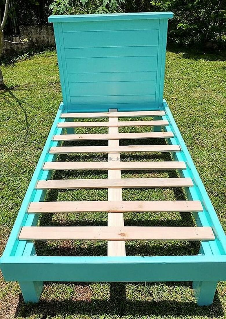 Pallets Made Twin Size Bed Frames | Diy twin bed frame ...