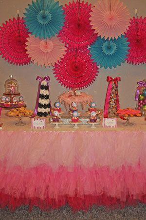 6a3743ab2 Resultado de imagen para mesa decorada con tul | Rosa y Dorado ...