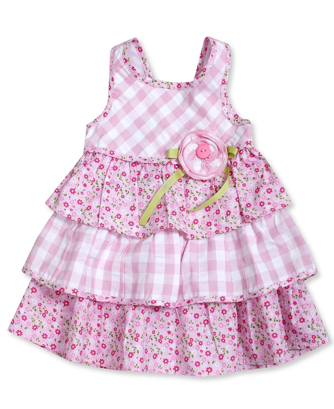 Bonnie Baby Baby Girls\' Sleeveless Sundress - Kids - Macy\'s | Moda ...