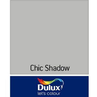 Dulux Matt Emulsion Paint - Chic Shadow - 2.5L from Homebase.co.uk