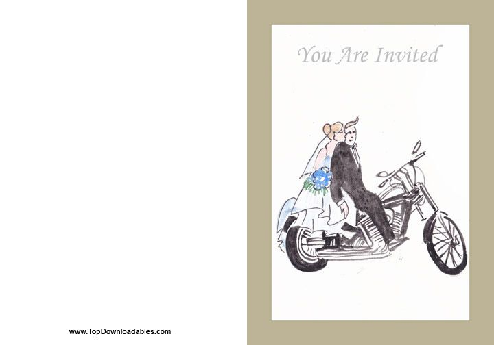 wedding invitation motorcycle theme diy free wedding With free printable motorcycle wedding invitations