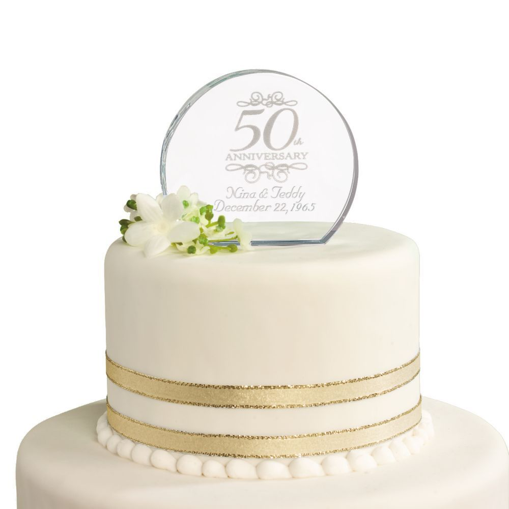 50th anniversary personalized cake topper 50th