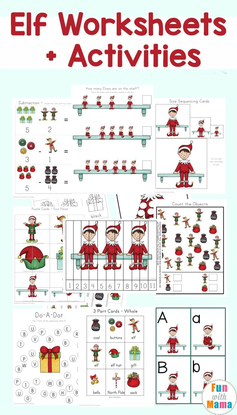 Elf Activities Worksheets Elf Activities Elf On The Shelf Worksheets Preschool Elves