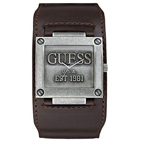 montre guess bracelet cuir homme