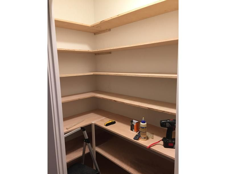 Build Instructions for a Walk-in Corner Pantry