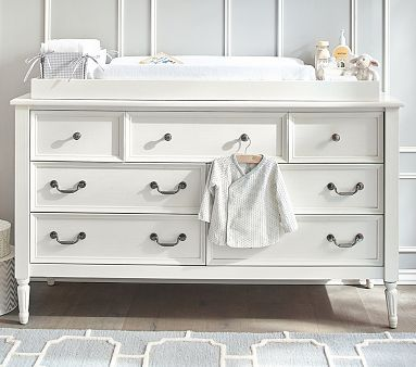 Blythe Extra-Wide Dresser & Changing Table Topper, Vintage Gray ...