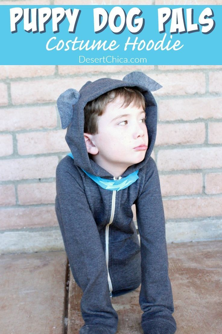 Looking for an easy Puppy Dog Pals costume idea? Check out this costume tutorial that only requires a hoodie felt and limited sewing skills!  sc 1 st  Pinterest & How to make a Puppy Dog Pals costume hoodie | Pinterest | Costume ...
