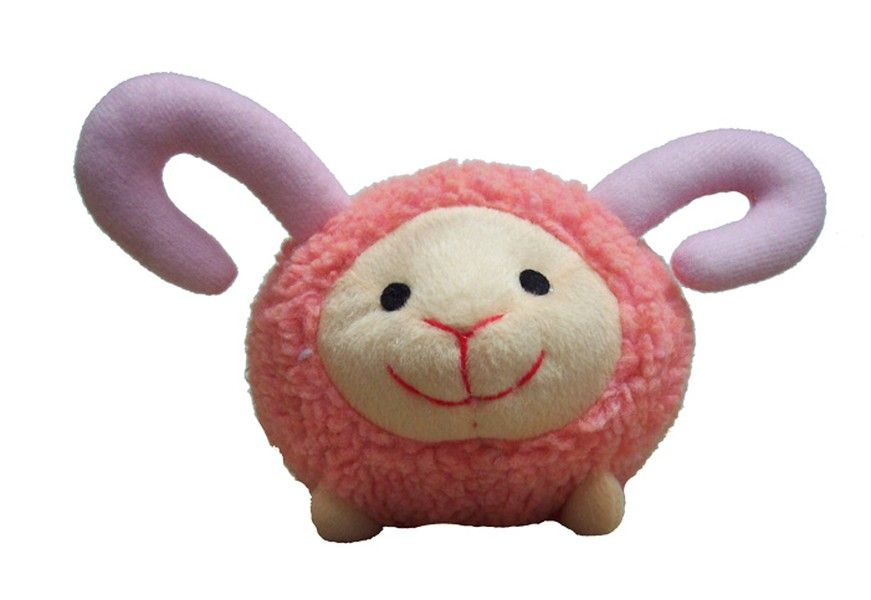 Henrietta the pink ram dog toy from just a touch of