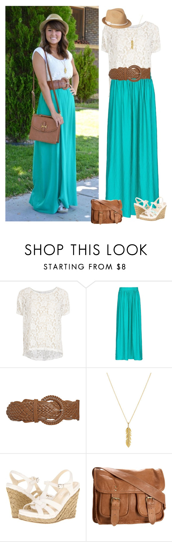 """Modest Style Steal"" by samanthahac ❤ liked on Polyvore featuring VILA, MANGO, Wet Seal, Ileana Makri, Christin Michaels, Cleobella and Old Navy"