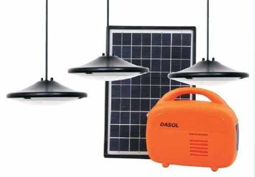 Dasol Off Grid Solar Lighting Kit With 10w Pv Module 3 Hanging Super Bright Led Lights And A Lithium Ion Batter Solar Kit Off Grid Solar Solar Panels For Home
