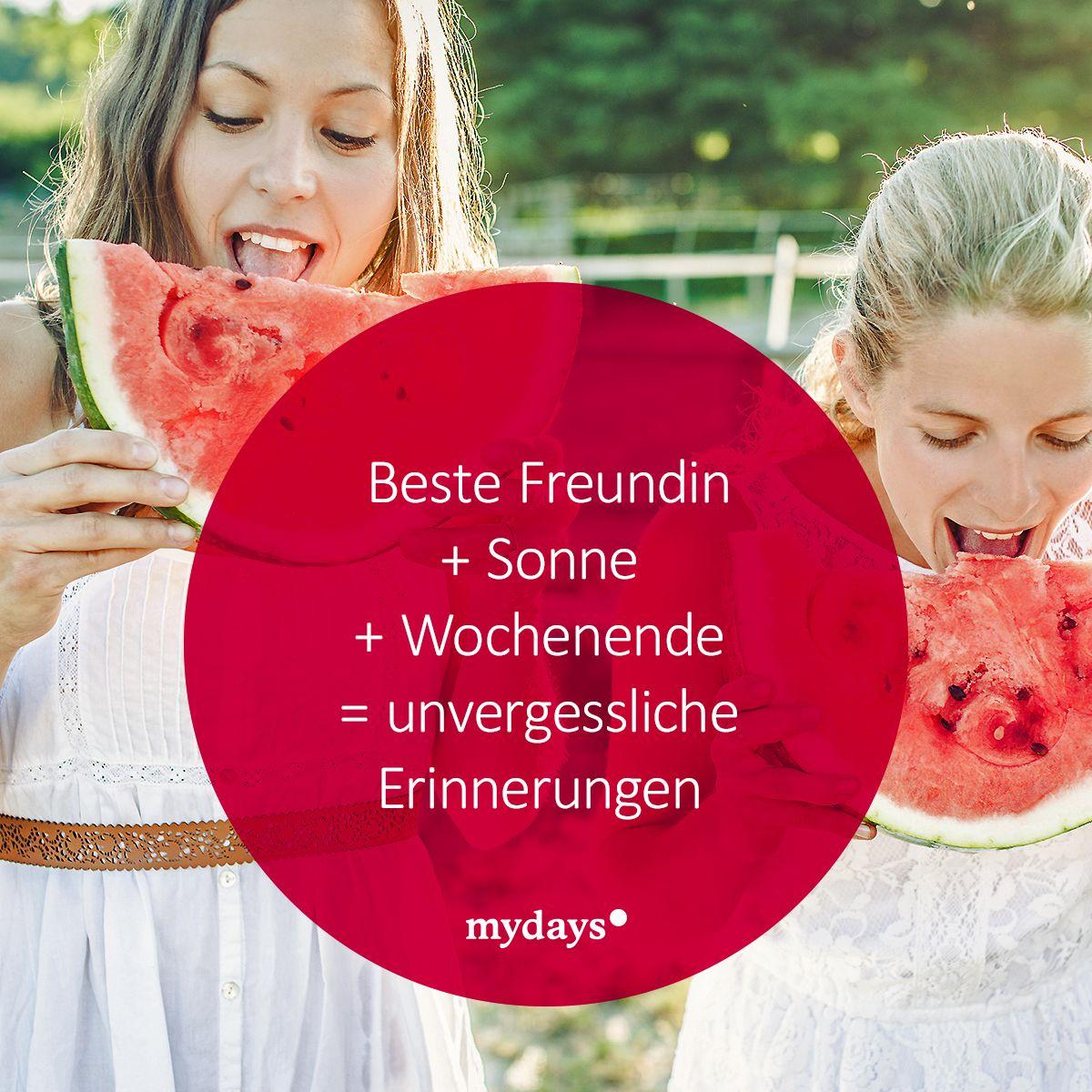 Beste Freundin + Sonne + Wochenende = unvergessliche