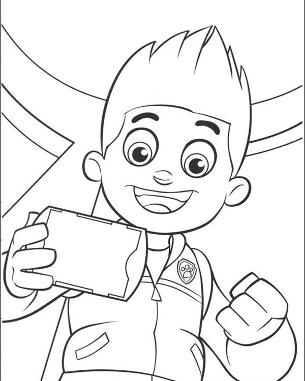 Paw Patrol Coloring Pages Ryder Coloring Page