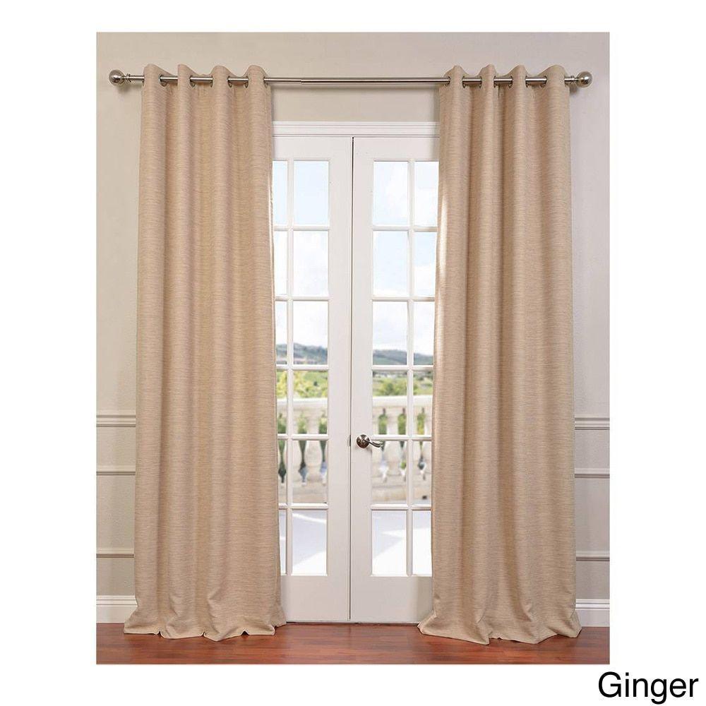 Exclusive Fabrics Grommet Bellino 120 Inch Blackout Curtain 50 X