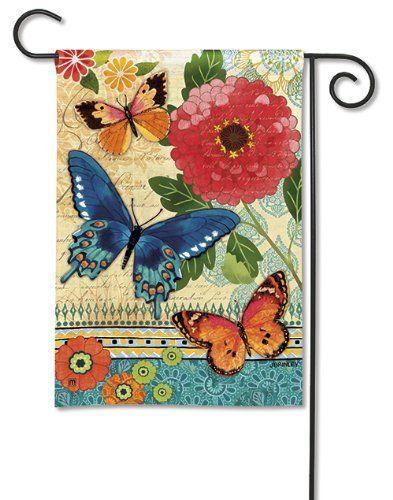 Butterfly Ballad Garden Flag By Magnetworks 10 95 Silky Soft Fade And Mildew Resistant Solarsilk Fabric Hand Wash Mi Flag Decor Garden Flags House Flags