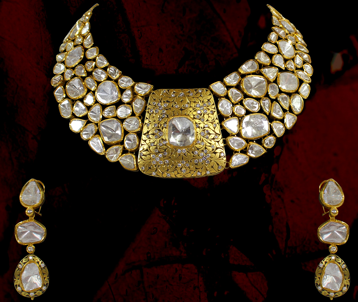 cd7db22471483 Stunning Heavy kundan polki choker neck | Design Ideas | Bollywood ...