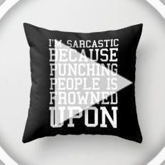 Im Sarcastic Funny Quote Throw Pillow  2019  Im Sarcastic Funny Quote Throw Pill...