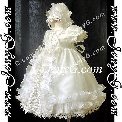 Ci9 baby flower girl #wedding first holy #communion #church bonnet gown dress ivo,  View more on the LINK: http://www.zeppy.io/product/gb/2/282279537899/