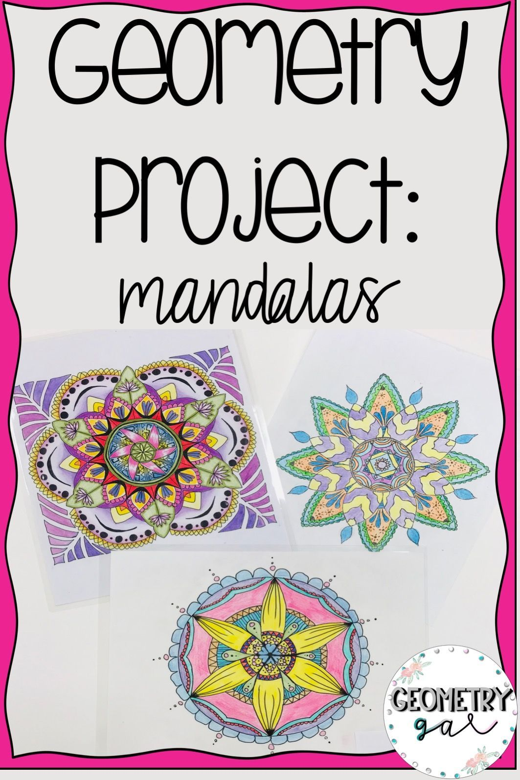 Geometry Project Mandalas Editable
