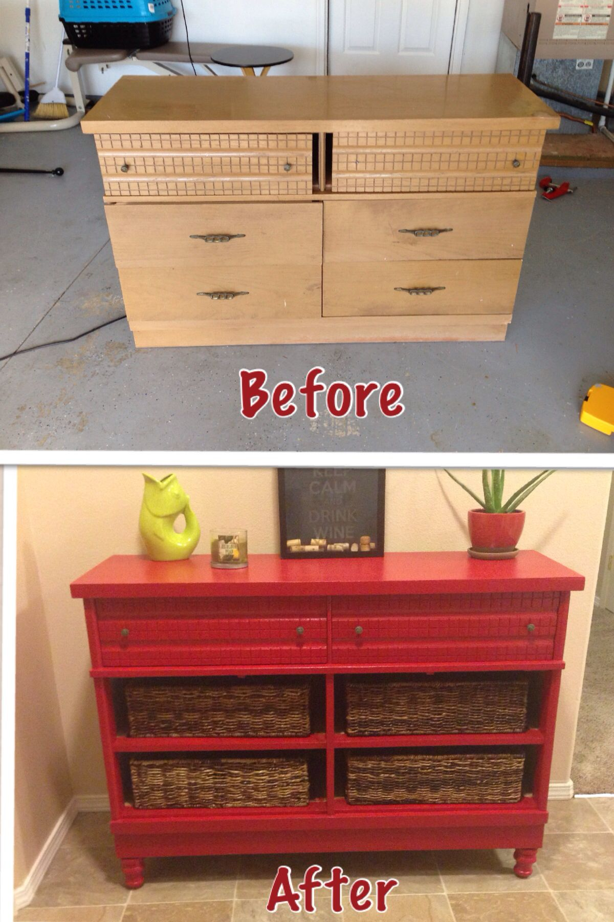 Old dresser makeover love it so cool cheap rayban glasses for spring - Before and after old dressers makeover with a little paint ...