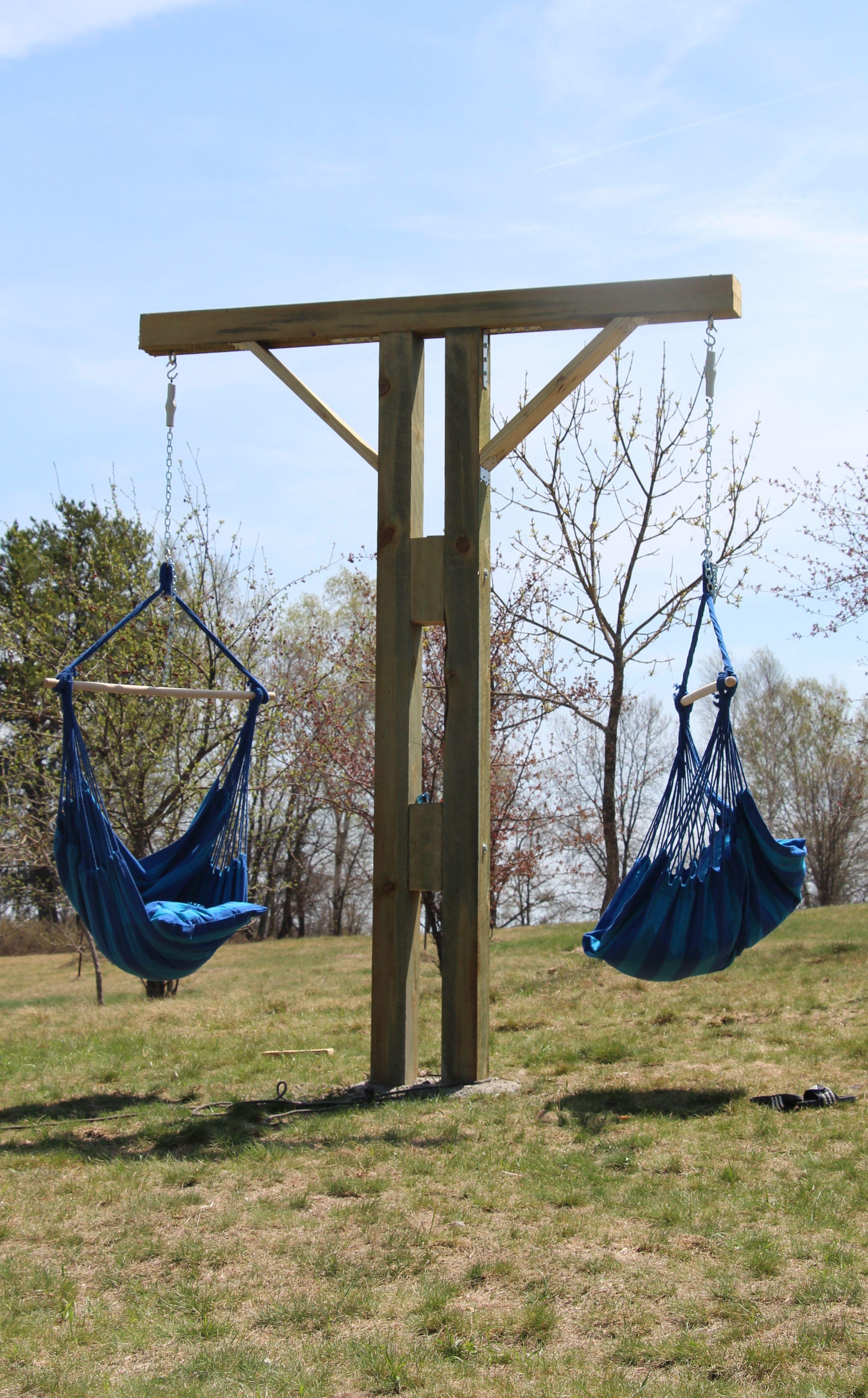 Diy hammock chair stand chair stands pinterest hamacas